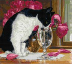 Shop for cat art from the world's greatest living artists. All cat artwork ships within 48 hours and includes a money-back guarantee. Choose your favorite cat designs and purchase them as wall art, home decor, phone cases, tote bags, and more! Cat Traps, Images Vintage, Cat Drinking, Water Art, Cat Colors, White Cats, Domestic Cat, Illustrations, Art Pages