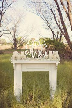 Chic Southern Vintage Wedding Inspiration - Home Professional Decoration Wedding Ceremony Ideas, Wedding Altars, Ceremony Decorations, Bridal Decorations, Ceremony Backdrop, Reception Ideas, Wedding Centerpieces, Wedding Events, Wedding Mantle