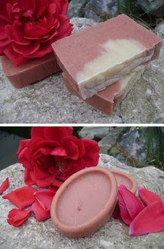 Homemade natural soap with rose | The place where you craft your beauty..The place where you craft your beauty..