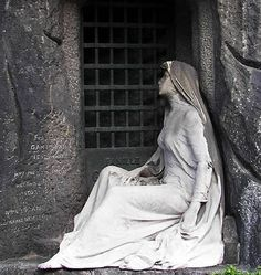 Pere Lachaise Cemetery, Paris - I never saw this when I went - however I only managed to see about 1/4 of the cemetery.  I need to go back soon!