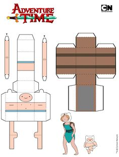 Adventure Time Crafts, Adventure Time Parties, Adventure Time Anime, Cute Disney Wallpaper, Cartoon Wallpaper, Spongebob Crafts, Disney Paper Dolls, Note Doodles, Printable Box
