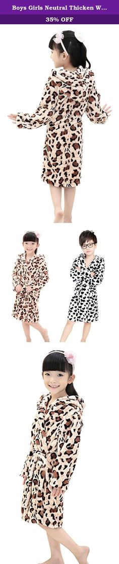 Boys Girls Neutral Thicken Winter Hooded Leopard/Cow Plush Bathrobe Nightgown. Specification: Brand:FakeFace,100% Brand New and Quality Guaranteed.Fakefaceis a registered company on Amazon,all rights are reserved. Buy from Bao Core to get the best quality and service. Item Type: Kid's bathrobe Material:Coral Fleece Gender: Girls,Boys Pattern Type: Cow or Leopard Season: Spring,Fall,Winter Size: 1cm = 2.54 inches Asian S: Suggest Age: 3-5 Years Old (100-120cm),Item Length:68cm, Sleeve...