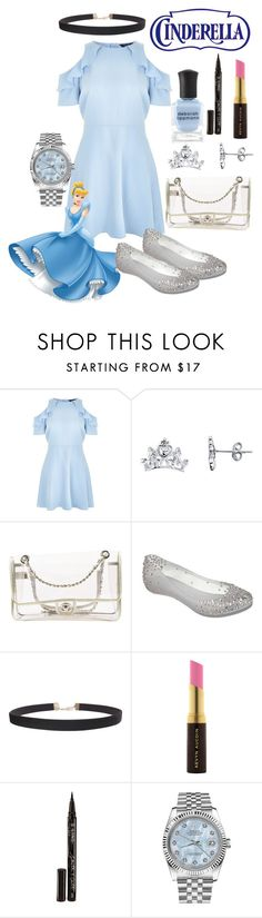 """""""Formal Cinderella"""" by pearlumberger ❤ liked on Polyvore featuring New Look, Disney, Chanel, Melissa, Humble Chic, Kevyn Aucoin, Smith & Cult, Rolex, Deborah Lippmann and disney"""