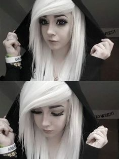 Top 50 emo hairstyles for girls - emo hairstyles - white emo .- Top 50 Emo Frisuren für Mädchen – Emo-Frisuren – Weißes Emo-Haar mit seitl… Top 50 emo hairstyles for girls – emo hairstyles – white emo hair with side-swept bangs – - Emo Haircuts, Scene Haircuts, Scene Hairstyles, Medium Haircuts, Drawing Hairstyles, Modern Haircuts, Little Girl Hairstyles, Black Women Hairstyles, Hairstyles With Bangs