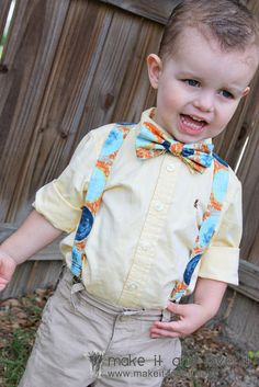 Little Boy Suspenders: How to make suspenders for little boys.  www.makeit-loveit.com