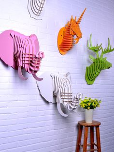 wooden elephant head for wall art,wood ornament for decoration,good wood,diy home decor,animal head,elephant decoration,objects-in Crafts fr...