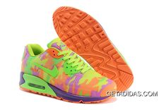 sports shoes efd8c 1d985 Womens Nike Air Max 90 HYP KPU TPU Camo Green Orange Purple Trainers the  design is very beautiful, the material used is also very good, very good  elasticity ...