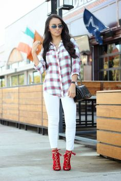 Maytedoll: Plaid Flannel Top