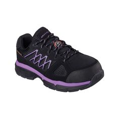 Women's Skechers Work Relaxed Fit Conroe Kriel ESD Safety Toe Shoe... ($95)  ❤ liked on Polyvore featuring shoes, sneakers, casual, lace up shoes, ...