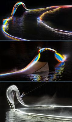 Video Shows What Happens When You Combine LED Lights and Wakeboarding
