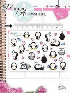 Kawaii Penguin Stickers Cute Penguin Stickers von EmelysPlannerShop
