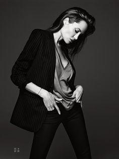 Angelina Jolie by Hedi Slimane for Elle, June 2014.
