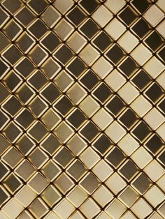 Harper Tile in cast Zinc with choice of various plated finishes by Giles Miller Studio (finish shown Gold)