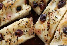 Focaccia with olives, rosemary and lemon « Cooking Blog – Find the best recipes, cooking and food tips at Our Kitchen.