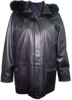"Product review for Johnnyblue Big Women Tall 5003 PLUS & ALL SIZE Lambskin Half Coat Parka.  - Laydown Collar Zip Front Double Placket Closure Zip Off Hood Fox Trim Draw String Lined,Multi Stitches . Not all leather is the same. When vendors say or state, ""leather or genuine leather"", they generally use ""pig skin"", which is the worst quality of leather and therefore..."