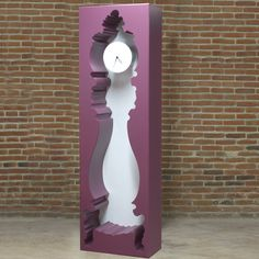 Insideout Clock Fuchsia