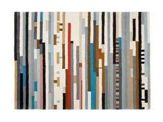 Rectangular wool Rug with Geometric Shapes LEPARC - GAN By Gandia Blasco