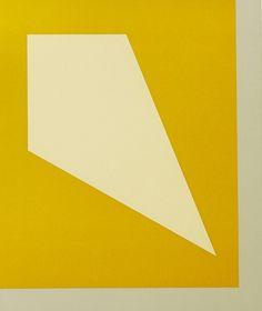 Juhana Blomstedt: Keltainen luola, 1990, serigrafia, 23x20 cm - Galleria Bronda