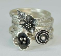 Hey, I found this really awesome Etsy listing at https://www.etsy.com/uk/listing/242220827/sterling-flower-rings-poppy-forget-me