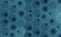 Popham Design - hex star azure + indigo - how fab would this be in the atrium