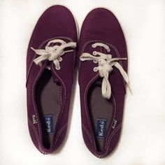 TAKE 40% OFF-HP 10/23Purple Keds In great condition- worn twice. There is a small spot on the right show by the toe that is barely noticeable, the laces are white as well as the rubber around the shoe, the bottom of the shoes are a little dirty. keds Shoes Sneakers