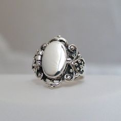 Victorian Scroll Poison Ring - 925 Sterling Silver, Sizes Pillbox Ring NEW Silver Jewelry Box, Silver Bracelets, Sterling Silver Jewelry, Diamond Jewelry, Silver Earrings, Jewelry Rings, Fine Jewelry, Gold Jewellery, Earrings Uk