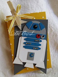 www.stampingmoon.com maythefourth R2D2 Treat inspired by Stampin' Up! Catalog Premier Party: