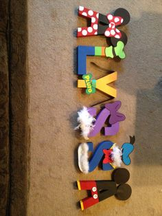 DIY Disney Inspired 8 inch Painted Letters by PrettyPartiesndPaint