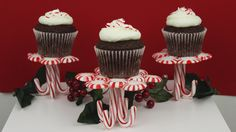 How to Make Peppermint Candy Stands and Cupcakes!
