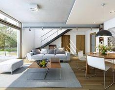 Aranżacje wnętrz - Domy: ATRAKCYJNY 3A - nowoczesny dom z poddaszem użytkowym - Małe jednopiętrowe domy jednorodzinne z dwuspadowym dachem murowane, styl nowoczesny - DOMY Z WIZJĄ - nowoczesne projekty domów. Przeglądaj, dodawaj i zapisuj najlepsze zdjęcia, pomysły i inspiracje designerskie. W bazie mamy już prawie milion fotografii!