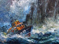 The Irish seaboard, so often ruthless, raging, ragged and windswept. The wild Atlantic way. The Lifeboat Crew at work and so often in peril of their own lives.