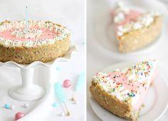 No Bake Strawberry Milk Cheesecake by SprinkleBakes