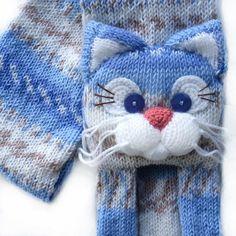 Knitted cat scarfKnitted scarfAnimal scarfCat scarfKnit
