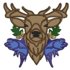 Deer, Moose, Buck Hunting Applique Machine Embroidery Digitized Pattern   #embroidery #machineembroidery #applique #digitized #needlework #sew #patterns #deer #moose #hunting #buck