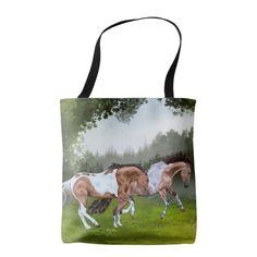 Buckskin Tobiano Paint Horses Tote Bag