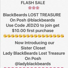Flash Sale Flash Sale Limited Time Only.                   Introducing Lady BlackBeards Lost Treasure.                  @ladyblackbeards Vintage Accessories