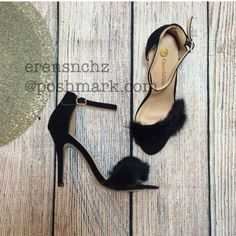Faux Fur Black Heels 8.5  Faux Fur Black Heel size 8.5. Price will be dropped if interested. Ships next day! Shoes Heels