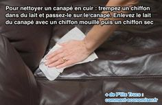 If you've got a couch with leather upholstery, you're probably wondering how to clean a leather couch. This article will talk about how to clean a leather couch in detail, so you can lounge in clean comfort once again. Natural Cleaning Solutions, Natural Cleaning Products, Cleaning Recipes, Cleaning Hacks, Cleaning Leather Sofas, Clean Sofa Fabric, Fabric Sofa, Upholstery Cleaning Services, How To Clean Furniture