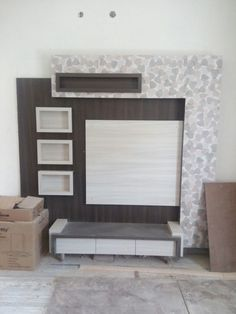 Lcd wall units family rooms that exploit the cornor space open up whatever is lot of the space for more versatile settlement, Wall Unit Designs, Living Room Tv Unit Designs, Lcd Wall Design, Tea Table Design, Bed Designs With Storage, Tv Wanddekor, Modern Tv Wall Units, Tv Cabinet Design, Room Partition Designs