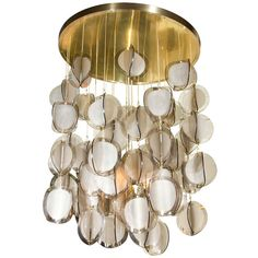 Italian Mid-Century Flushmount Chandelier ~via Paul Marra Design
