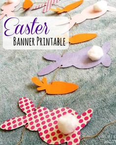 Enjoy this FREE Easter Banner Printable to decorate your home with this Spring! Enjoy this FREE Easter Banner Printable to decorate your home with this Spring! Printable Banner, Printable Crafts, Free Easter Printables, Printable Templates, Party Printables, Holiday Fun, Holiday Crafts, Spring Crafts, Holiday Ideas