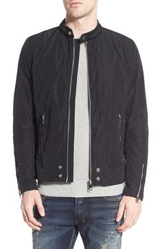 DIESEL 'J-Edg-Clean' Band Collar Jacket. #diesel #cloth #