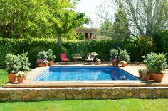 home built swimming pool Small Swimming Pools, Small Pools, Ideas De Piscina, Piscine Diy, Hill Interiors, My Pool, Diy Garden, Outdoor Living, Outdoor Decor