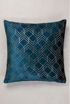 Buy Metallic Velvet Geo Cushion from the Next UK online shop Teal Cushions, Plain Cushions, Large Cushions, Large Sofa, Velvet Cushions, Scatter Cushions, Cushions On Sofa, Throw Pillows, Metallic Cushions