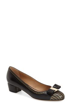 Block Heel Pumps, Bow Shoes, My Wardrobe, Bows, Salvatore Ferragamo,  Pumping, Woman, Loafer, Nordstrom
