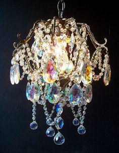 Opulent Jeweled Antique Crystal Basket Chandelier. $424.95, via Etsy.