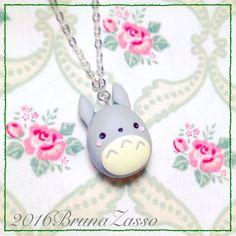 Ghibli Totoro de Miyazaki polímero Clay Fimo collar por BrunaZassou