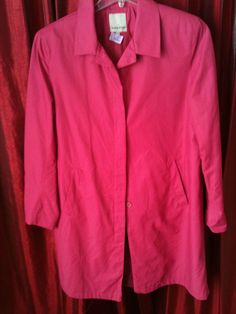 Anne Klein Coat Jacket Pink Posh Size 14 Retails $198 Size 14 Fabulous #ANNEKLEIN2 #Trench
