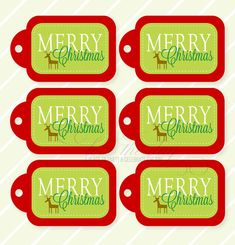 Merry Christmas PRINTABLE Gift Tags by Love The Day by lovetheday, $5.00