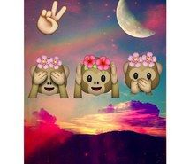 Inspiring image backgrounds, clouds, colors, emoji, flowers, hippie, hipster, monkey, moon, mountain, peace, sunset, wallpaper, emojis, emoji backgrounds, emoji wallpaper #3179322 by winterkiss - Resolution 500x500px - Find the image to your taste